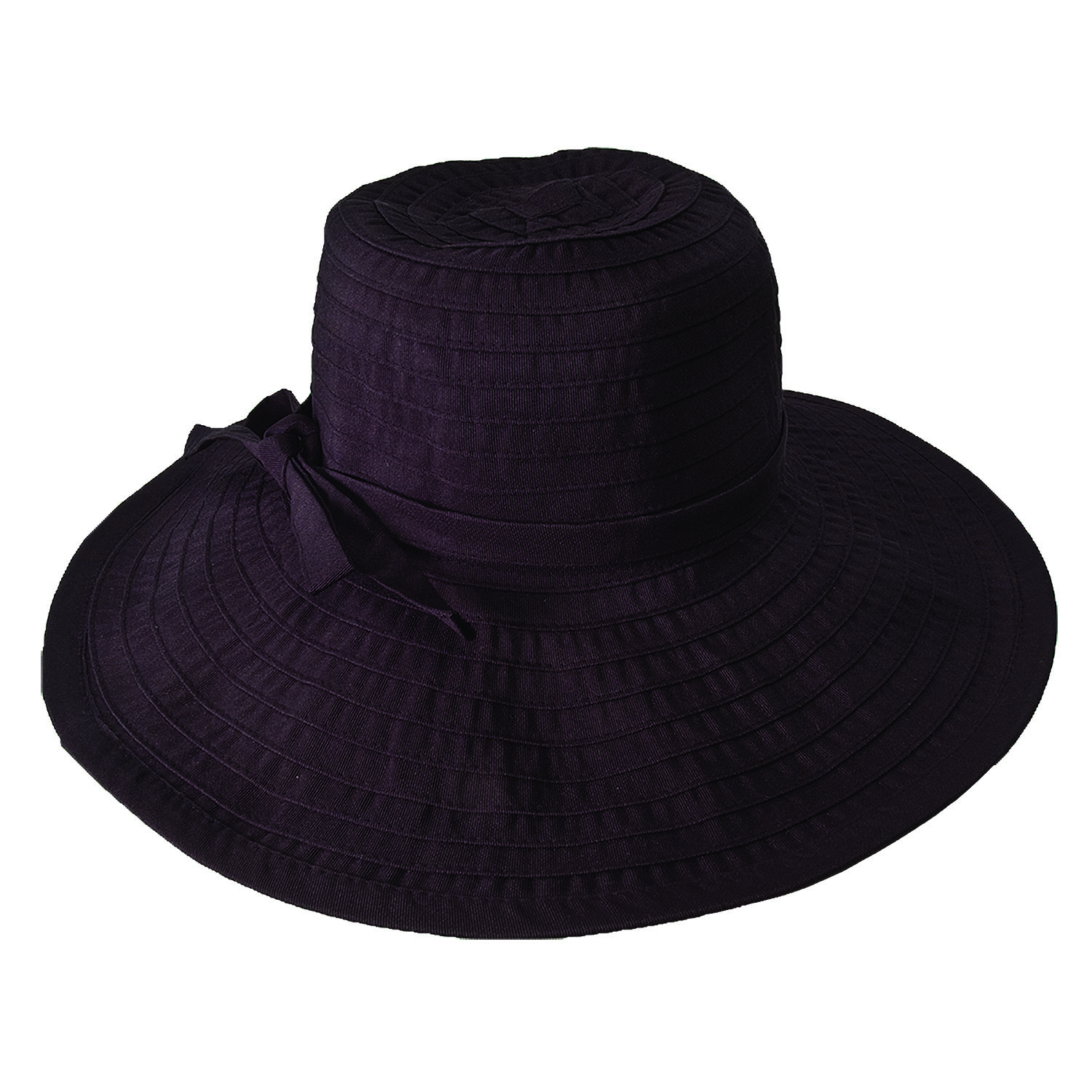HS238 - Black hat ribbon crusher hat by hat.a.girl®